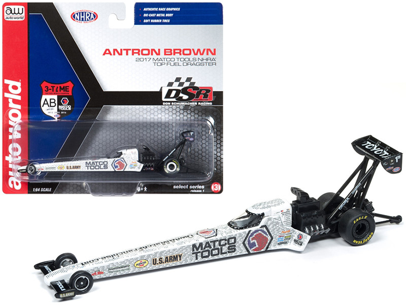 2017 NHRA Antron Brown Matco Tools TFD 1/64 Diecast Model Car Autoworld AWSP006