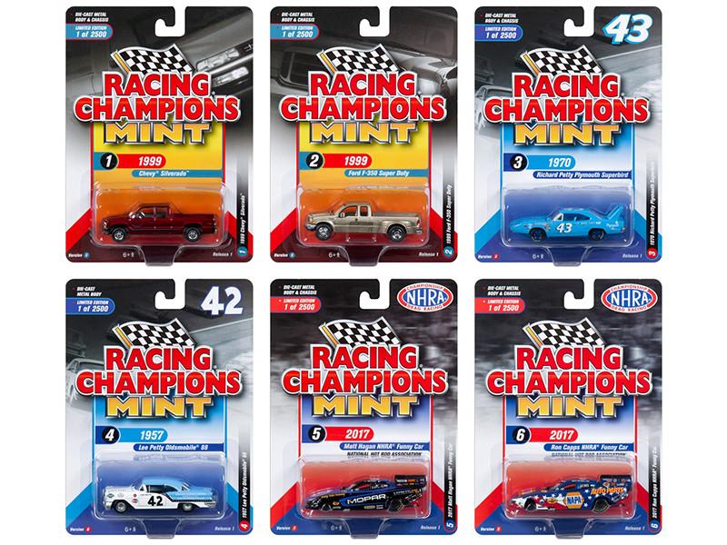 2018 Mint Release 1 Set B 6 Cars 1/64 Diecast Models Racing Champions RC007 B