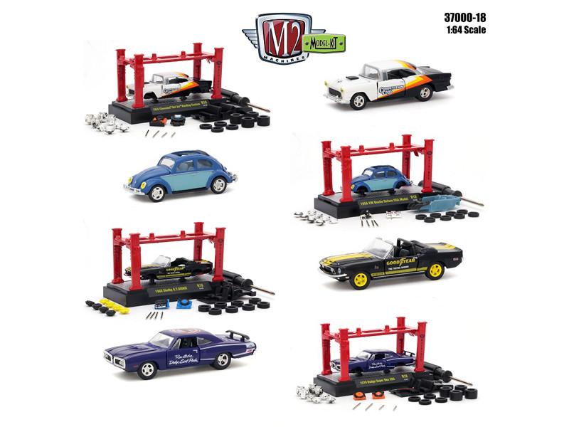 Model Kit 4 pieces Set Release 18 1/64 Diecast Model Cars M2 Machines 37000-18