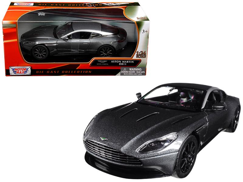 Aston Martin DB11 Silver 1/24 Diecast Model Car Motormax 79345
