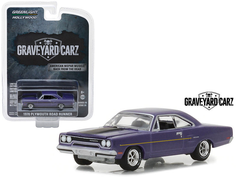 1970 Plymouth Road Runner Purple Graveyard Carz 2012 TV Series Hollywood Series 20 1/64 Diecast Model Car Greenlight 44800 D