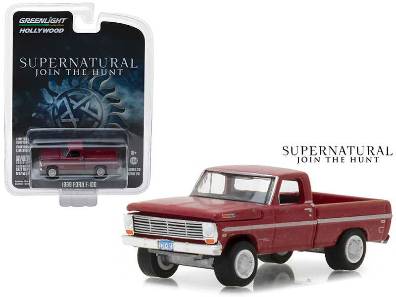 1969 Ford F-100 Pickup Truck Red Supernatural 2005 TV Series Hollywood Series 20 1/64 Diecast Model Car Greenlight 44800 F