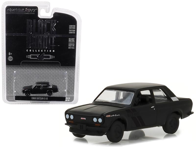 1968 Datsun 510 Black Bandit Series 19 1/64 Diecast Model Car Greenlight 27950 A
