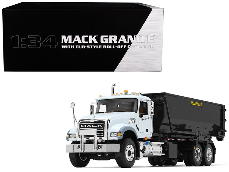 Mack Granite with Tub-Style Roll-Off Container 1/34 Diecast Model First Gear 10-4132