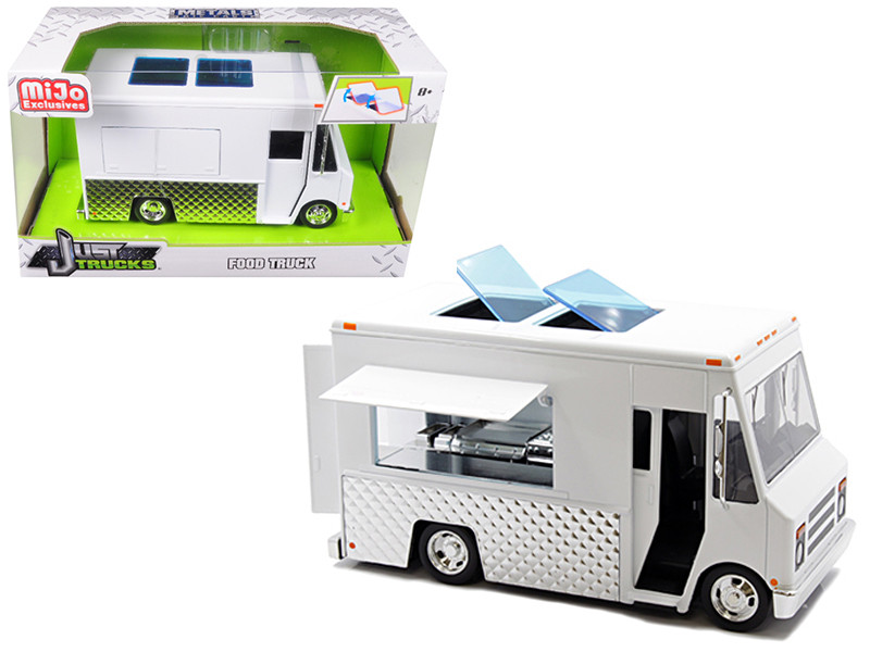 Food Truck White Just Trucks Series Diecast Model Jada 30211