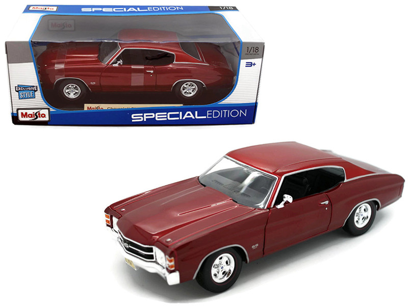1971 Chevrolet Chevelle SS 454 Coupe Red 1/18 Diecast Model Car Maisto 31890