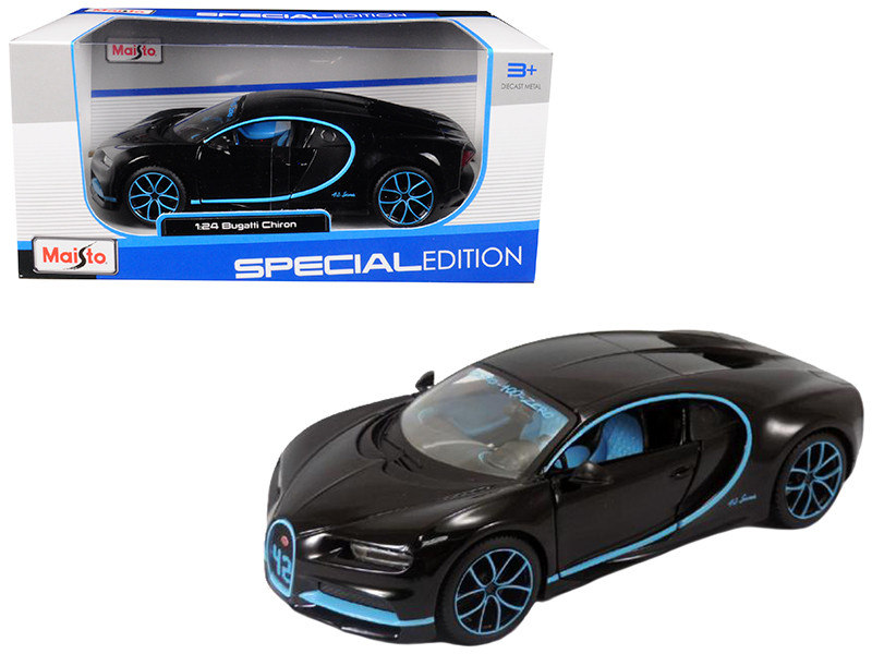 Bugatti Chiron 42 Black Limited Edition 1/24 Diecast Model Car Maisto 31514