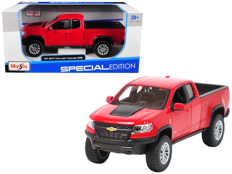 2017 Chevrolet Colorado ZR2 Pickup Truck Red 1/27 Diecast Model Car Maisto 31517