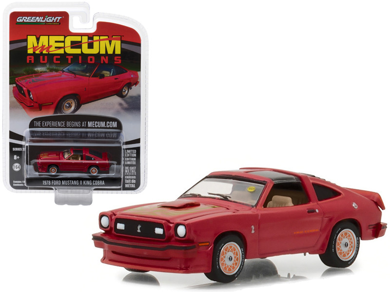 1978 Ford Mustang II King Cobra Red Kansas City 2012 Mecum Auctions Collector Series 2 1/64 Diecast Model Car Greenlight 37140 E