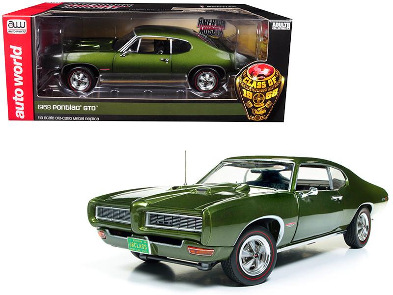 1968 Pontiac GTO Verdero Green Class of 68 50th Anniversary Limited Edition 1002 pieces Worldwide 1/18 Diecast Model Car Autoworld AMM1128