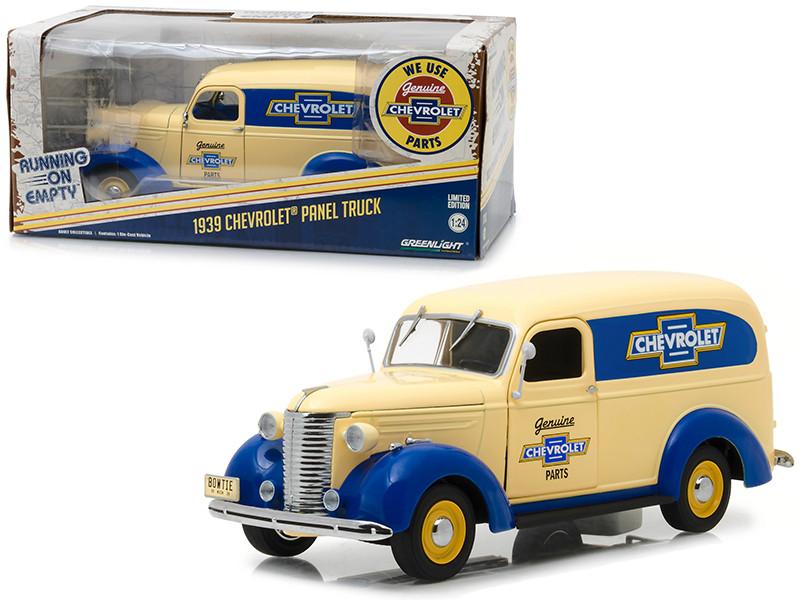 1939 Chevrolet Panel Truck Genuine Chevrolet Parts Running on Empty Series 1/24 Diecast Model Car Greenlight 18242