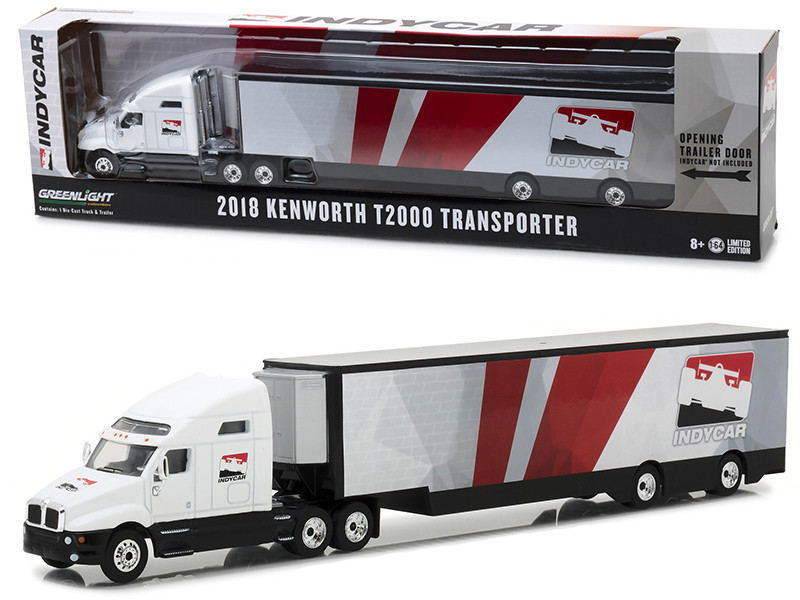 2018 Kenworth T2000 IndyCar Series Transporter Hobby Exclusive 1/64 Diecast Model Car Greenlight 29951