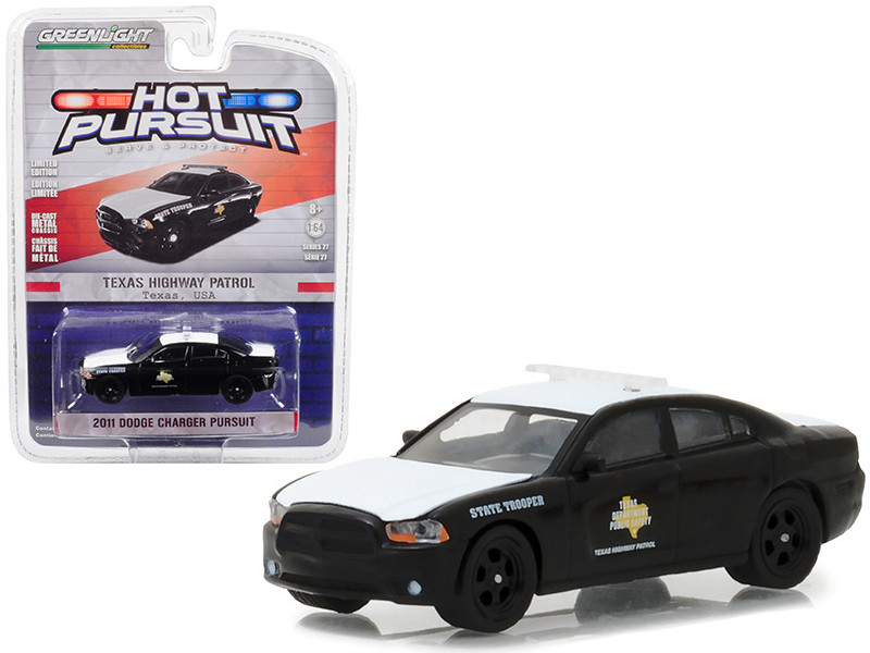2011 Dodge Charger Pursuit Texas Highway Patrol Hot Pursuit Series 27 1/64 Diecast Model Car Greenlight 42840 E