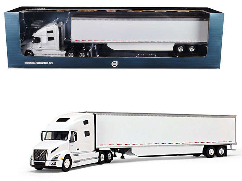 Volvo VNL 760 Sleeper Cab 53 Trailer Side Skirts White 1/50 Diecast Model Car First Gear 50-3394