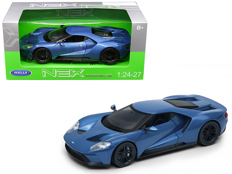 2017 Ford GT Blue 1/24 1/27 Diecast Model Car Welly 24082