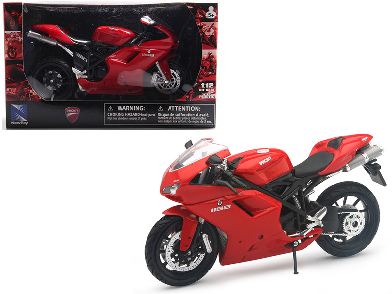 Ducati 1198 Red Motorcycle 1/12 Diecast Model New Ray 57143 AS