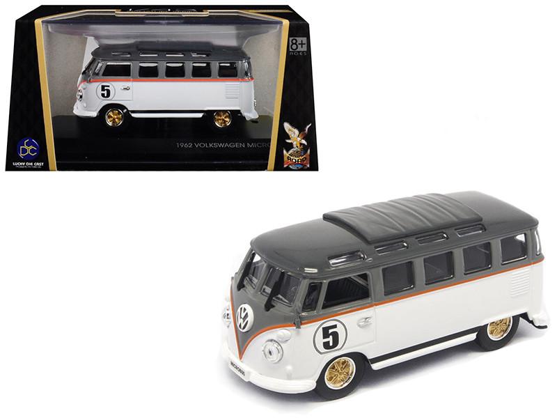 1962 Volkswagen Microbus #5 Van Bus White 1/43 Diecast Model Road Signature 43209