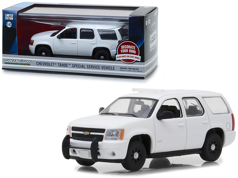 Chevrolet Tahoe Special Service Vehicle Plain White 1/43 Diecast Model Car Greenlight 86096