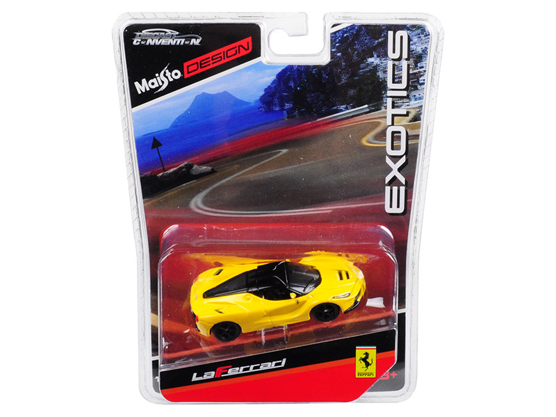 Ferrari LaFerrari Yellow Black Wheels Exotics Limited Edition 2400 pieces Worldwide 1/64 Diecast Model Car Maisto 15494-MC2