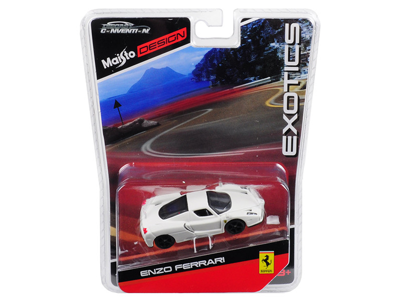Enzo Ferrari White Black Wheels Exotics Limited Edition 2400 pieces Worldwide 1/64 Diecast Model Car Maisto 15494-MC4
