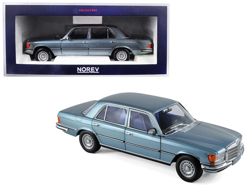 1976 Mercedes Benz 450 SEL 6.9 Blue Metallic 1/18 Diecast Model Car Norev 183457