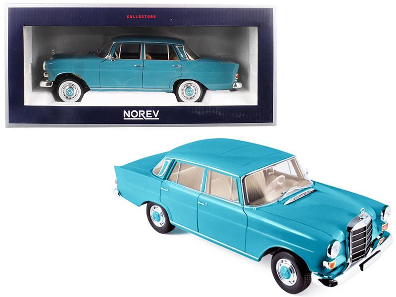 1966 Mercedes Benz 200 Green 1/18 Diecast Model Car Norev 183577
