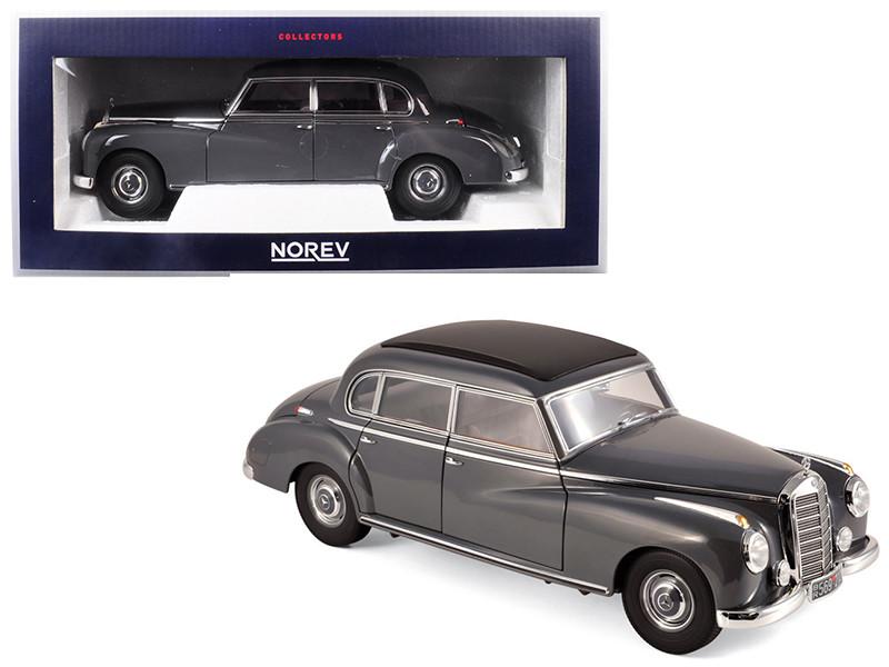 1955 Mercedes Benz 300 Dark Gray 1/18 Diecast Model Car Norev 183591