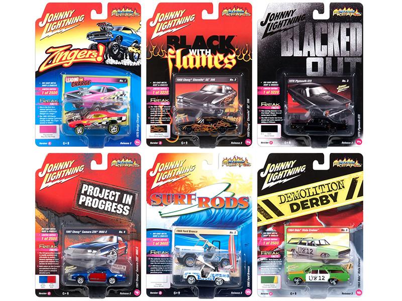 Street Freaks 2018 Release 2 Set A 6 Cars 1/64 Diecast Models Johnny Lightning JLSF008 A