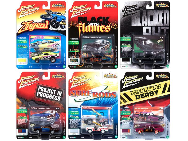 Street Freaks 2018 Release 2 Set B 6 Cars 1/64 Diecast Models Johnny Lightning JLSF008 B