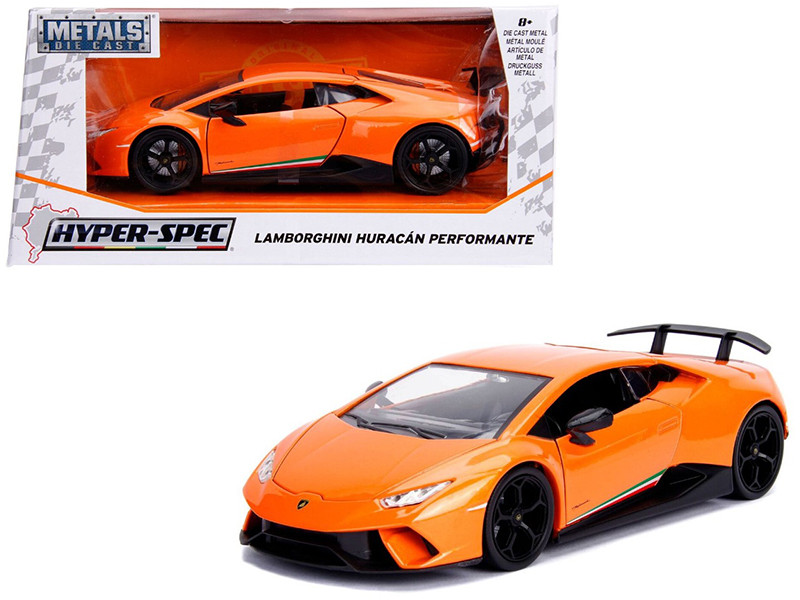 Lamborghini Huracan Perfomante Metallic Orange 1/24 Diecast Model Car Jada 99355