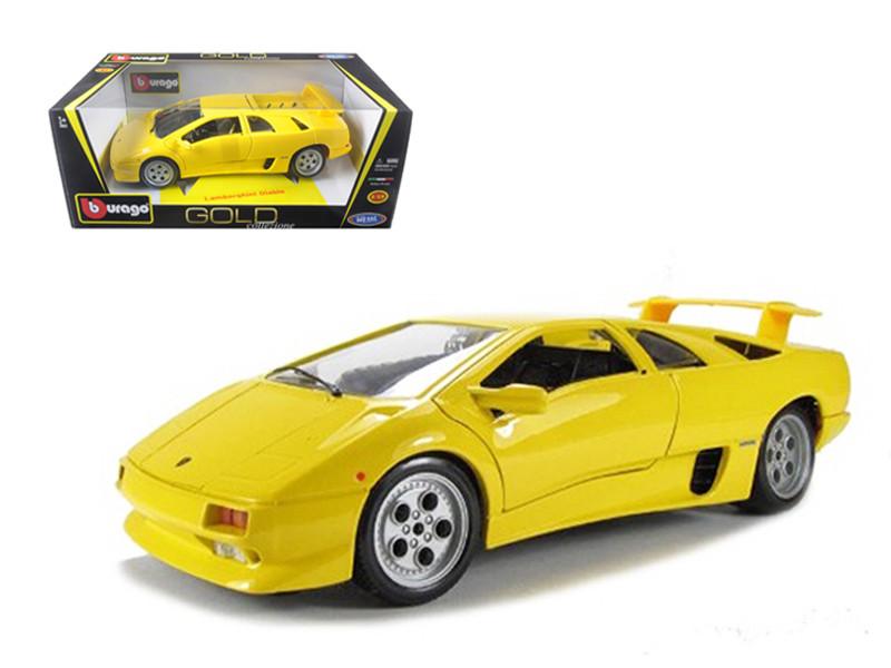 Lamborghini Diablo Yellow Car 1/18 Diecast Model Car Bburago 12042