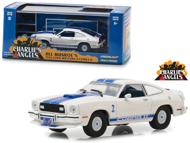 1976 Ford Mustang Cobra II White Charlie's Angels 1976 1981 TV Series 1/43 Diecast Model Car Greenlight 86516