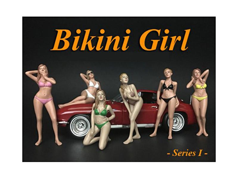 Bikini Calendar Girls 6 Piece Figure Set 1/24 Scale Models American Diorama 38265 38266 38267 38268 38269 38270