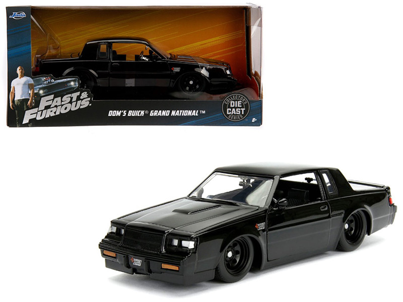Dom's Buick Grand National Black Fast Furious Movie 1/24 Diecast Model Car Jada 99539