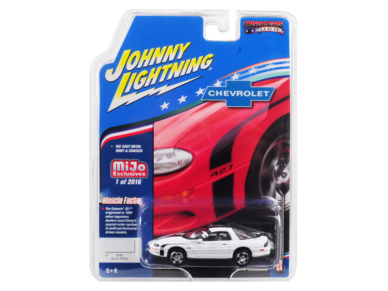 2002 Chevrolet Camaro ZL1 427 White Muscle Cars USA Limited Edition 2016 pieces Worldwide 1/64 Diecast Model Car Johnny Lightning JLCP7139
