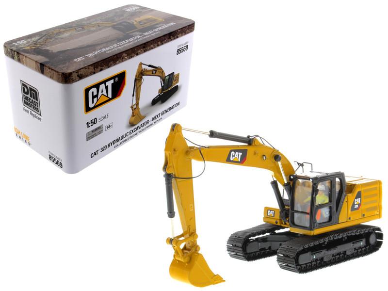 CAT Caterpillar 320 Hydraulic Excavator Operator High Line Series 1/50 Diecast Model Diecast Masters 85569