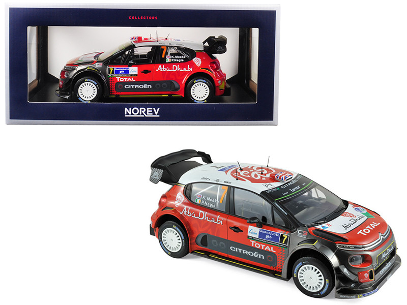 Citroen C3 WRC #7 Meeke Nagle Winner 2017 Mexico 1/18 Diecast Model Car Norev 181632