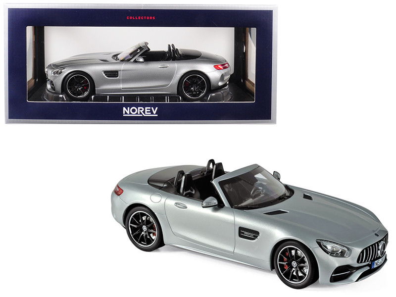 2017 Mercedes AMG GT C Roadster Silver Metallic 1/18 Diecast Model Car Norev 183453