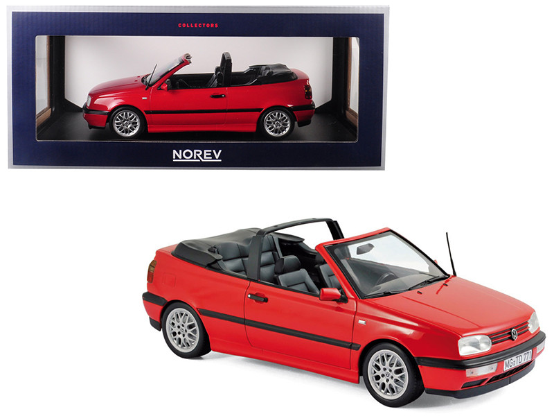 1995 Volkswagen Golf Cabriolet Red 1/18 Diecast Model Car Norev 188433