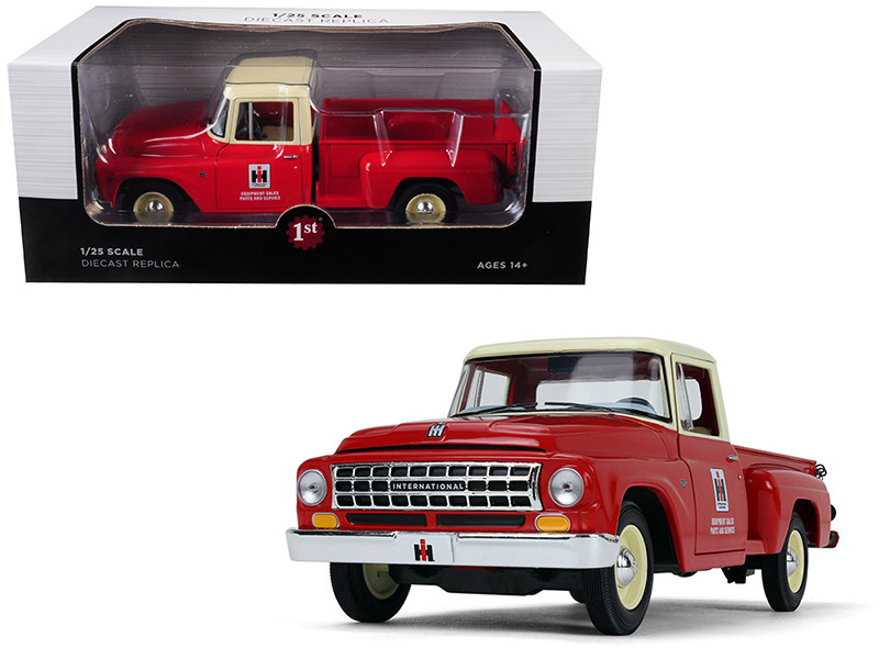 International Harvester C1100 Parts Service Pickup Truck Red Cream Top 1/25 Diecast Model Car First Gear 40-0417