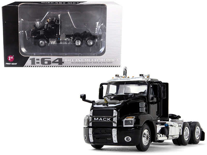 Mack Anthem Day Cab Black 1/64 Diecast Model First Gear 60-0406