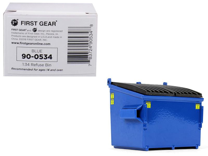 Refuse Trash Bin Blue 1/34 Diecast Model First Gear 90-0534