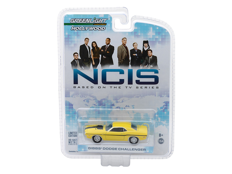 1970 Dodge Challenger R/T Yellow Gibbs's NCIS 2003 TV Series 1/64 Diecast Model Car Greenlight 44620 D