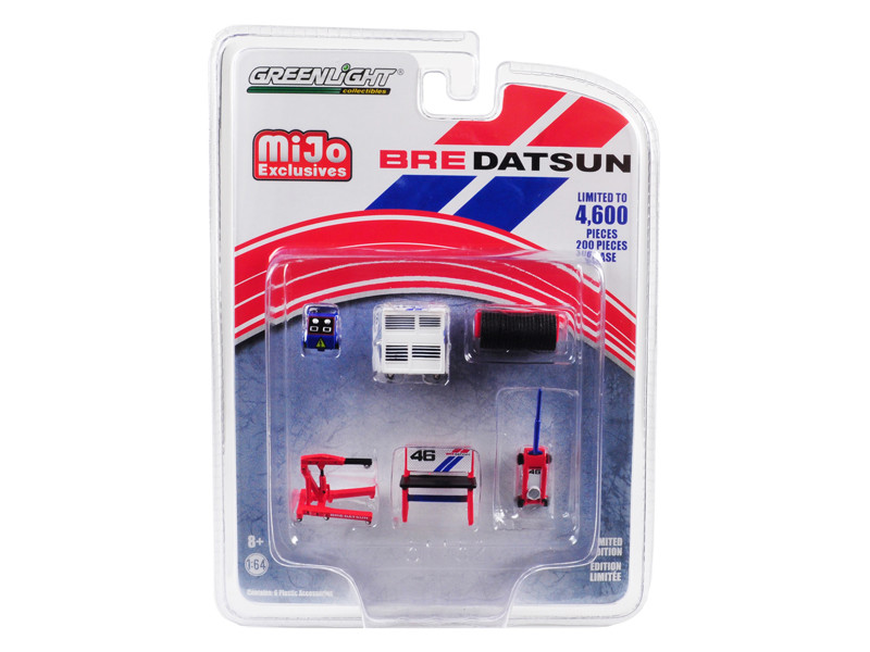 Greenlight Muscle 6pc Set Shop Tools BRE Datsun Limited Edition 4600 pieces Worldwide 1/64 Greenlight 51152