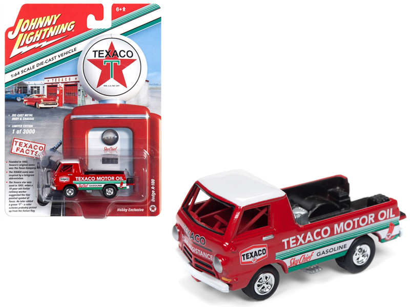 Dodge A-100 Pickup Truck Texaco Red Limited Edition 3000 pieces Worldwide 1/64 Diecast Model Car Johnny Lightning JLSP009