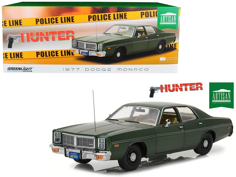 1977 Dodge Monaco Green Hunter 1984 1991 TV Series 1/18 Diecast Model Car Greenlight 19045