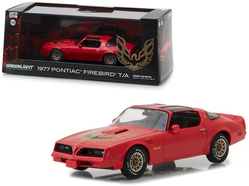 1977 Pontiac Firebird Trans Am Firethorn Red 1/43 Diecast Model Car Greenlight 86330