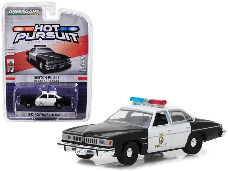1977 Pontiac LeMans Denton Police Texas Hot Pursuit Series 28 1/64 Diecast Model Car Greenlight 42850 B