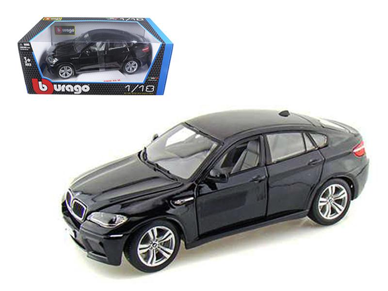 2011 2012 BMW X6M Black 1/18 Diecast Car Model by Bburago
