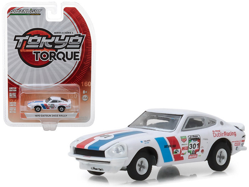 1970 Datsun 240Z #301 La Carrera Panamericana Rally 2015 Mexico Tokyo Torque Series 3 1/64 Diecast Model Car Greenlight 47010 B
